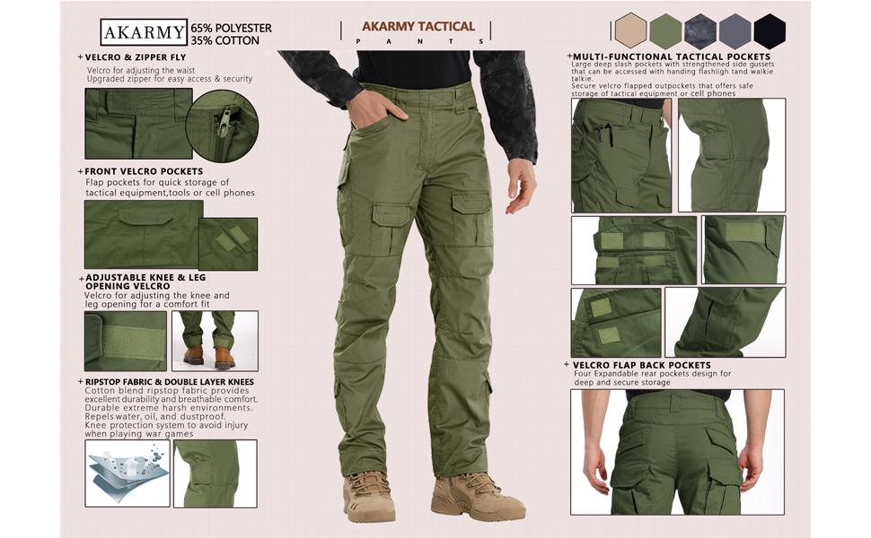 Pantalones tácticos para hombre