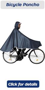 poncho de bicicleta