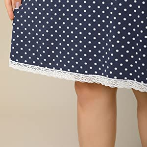 Agnes Orinda Women's Plus Size Nightgown Polka Dots Short Sleeve Sleepwear Nightgowns