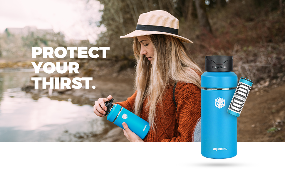 Aquamira Insulated Filter Bottle