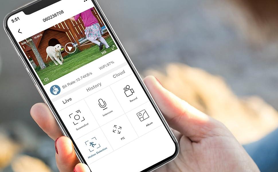 wireless outdoor wifi security camera zumimall wireless rechargeable security camera 360 ptz camera