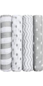 cuddlebug muslin swaddle blankets for babies and newborns