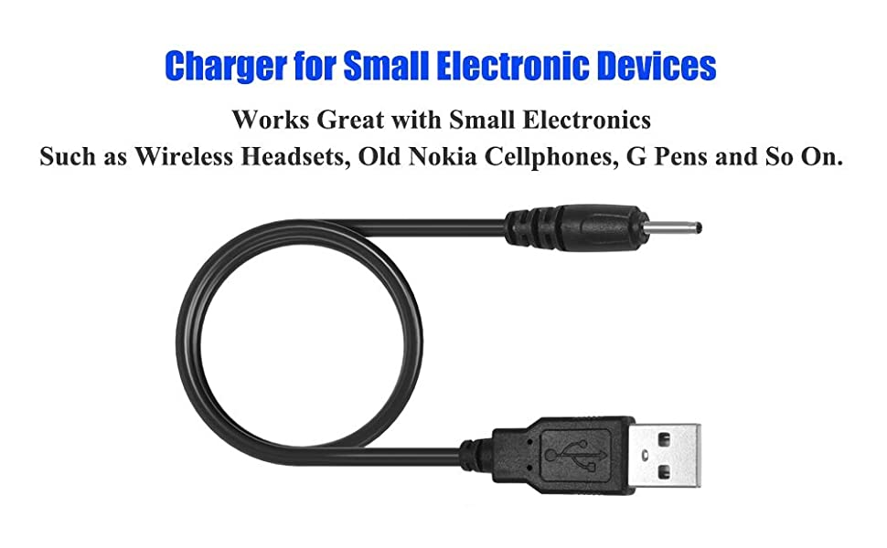 USB DC Charger Charge Charging Cable for Mini S530 Smallest Invisible Wireless Bluetooth Earbuds