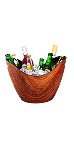 plastic, beverage, bucket, wine, ice, beer, wood, grain, 8qt, party, bucket