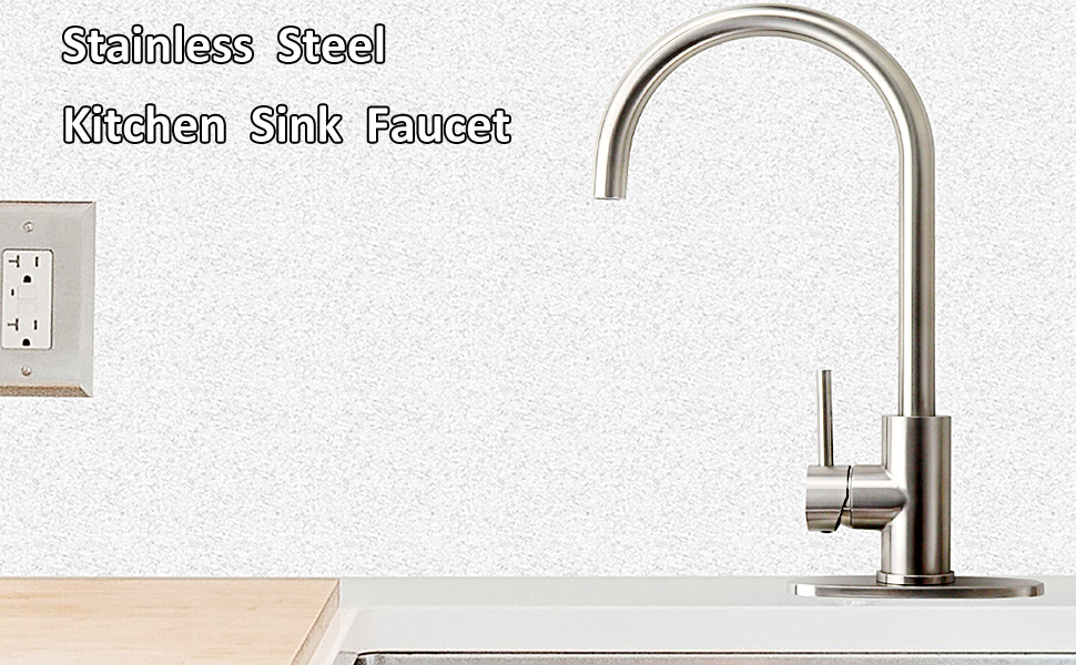 bar sink faucet stainless steel