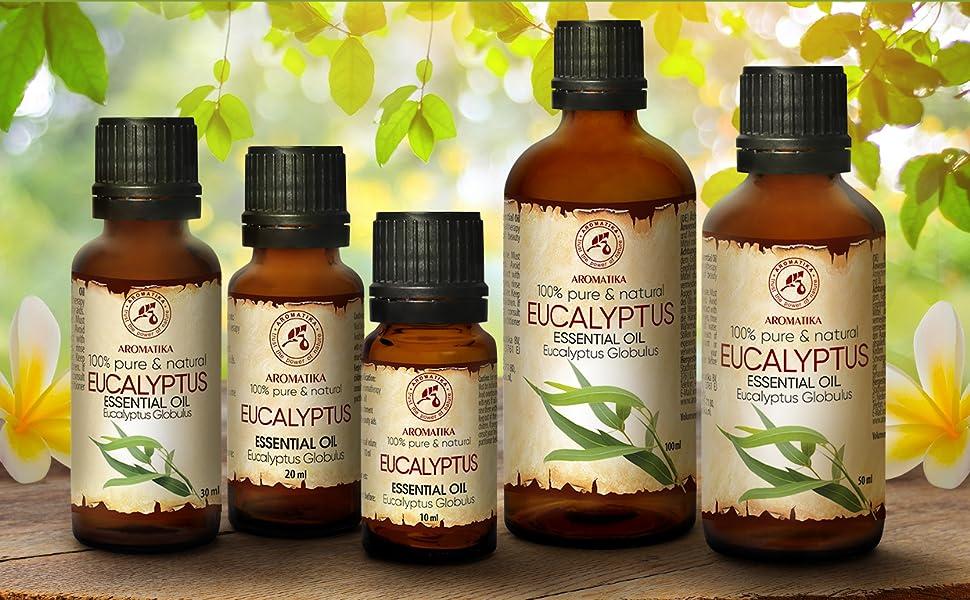 Aceite Esencial de Eucalipto 50ml - Eucalyptus Globulus - 100% Puro y Natural - se Utiliza para Aliviar la Tensión - Relajarse - Mejor para la Belleza - SPA - Baño -