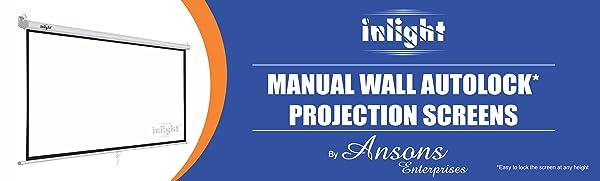 Inlight wall autolock projection screen