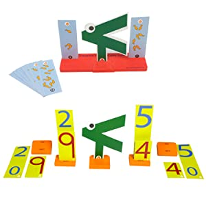 Math Brain Games Numbers Counting Addition Card Games   Montessori Educational Toys