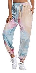 High Waist Tie Dye Lounge Pant