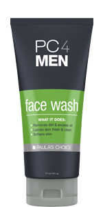 A face wash for men that washes away dirt and oil, while softening and moisturizing the skin.