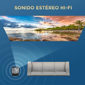 Proyector BOMAKER 5000 Lúmenes Soporta 1080p Full HD, Mini ...