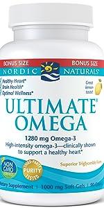 Ultimate omega, omega 3, nordic naturals