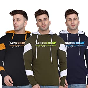 Printed Full Sleeve Soft & Strong Hooded T-Shirt