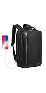 black slim backpack