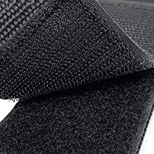 close up image of industrial strength hook and loop velcro closure for velcro garage organization