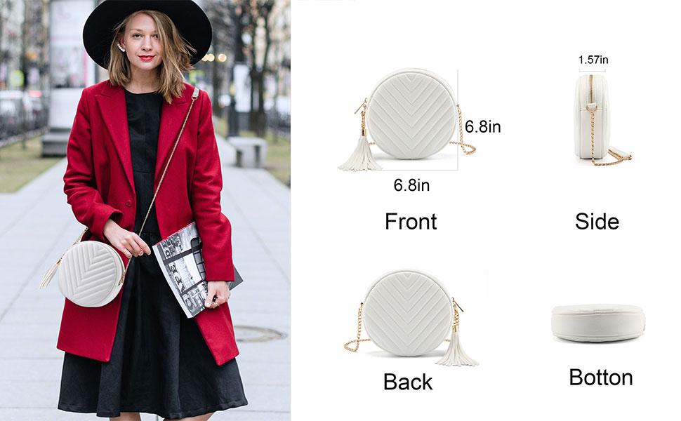 Crossbody Bags for Women Stylish Purses Clutch Circle Shoulder Handbags