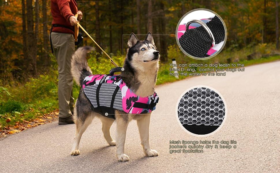 dog life jackett for medium dog