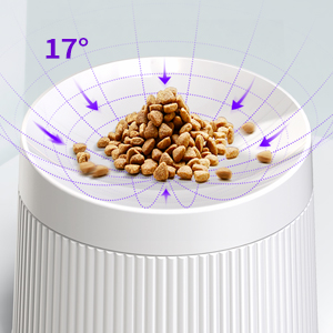 17°Tilted Cat Food Bowl