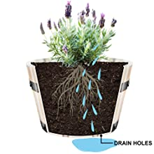 Villa Acacia planter showing how water moves through the pot and out the drainage holes