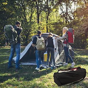 camping duffel