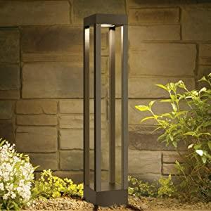 Farolas jardin exterior|balizas exterior jardin 9W 3000K blanco cálido Altura 62 cm en aluminio: Amazon.es: Iluminación