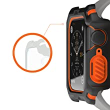 URBAN ARMOR GEAR UAG APPLE WATCH CASE 44MM BLACK, RUGGED, TOUGH, RAISED SCREEN SURROUND,GUARD SCREEN