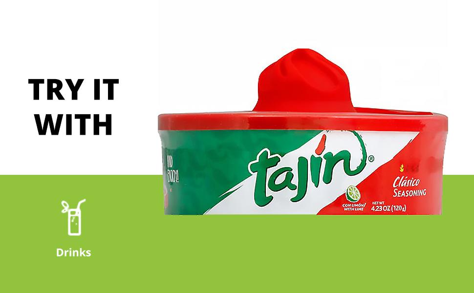 sugar rim rimer rimmer taco tajin tajine tajín toco beverage drink glass vegetable veggie