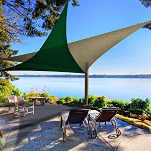 beach canopy sail-triangle shape large size-gazebo terrace screen tarp cover-shade sail sun protect
