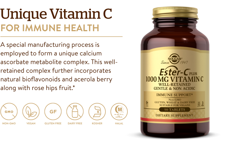 Gentle On The Stomach & Non Acidic - Antioxidant & Immune System Support