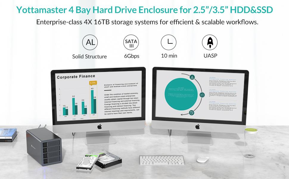 4 bay hard drive enclosure