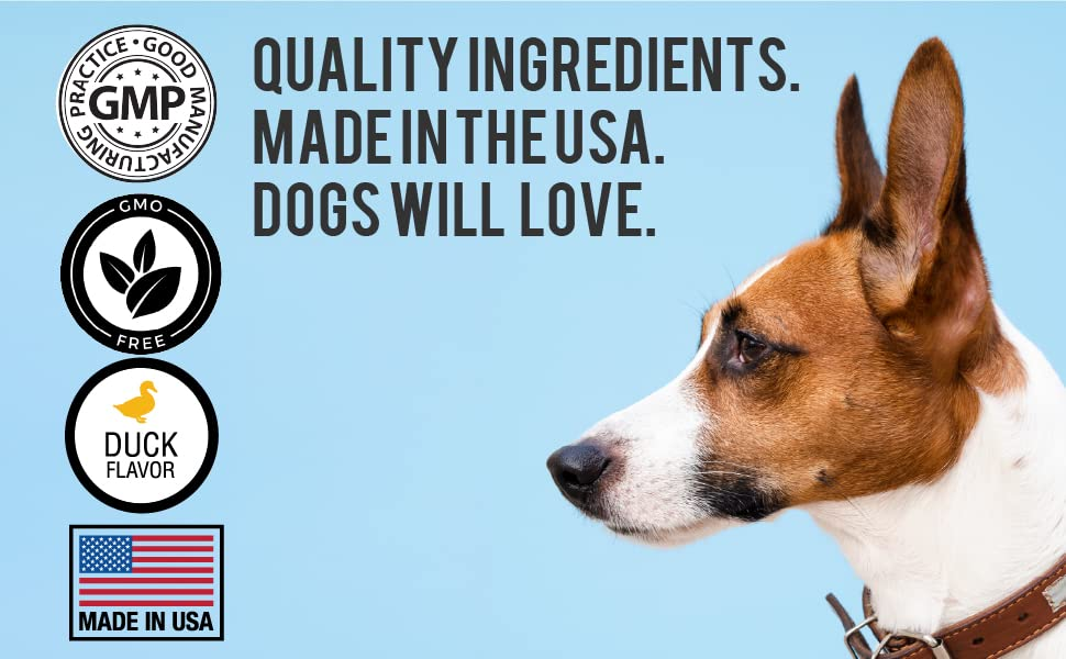Pawish is inspected and manufactured in the USA. Quality and Duck flavor loved by dogs!