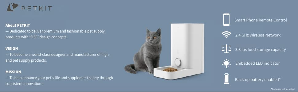 petkit auto feeder for cats and small dogs smart feeder