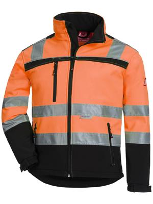 chaqueta impermeable reflectante trabajo hombre naranja alta visibilidad abrigo