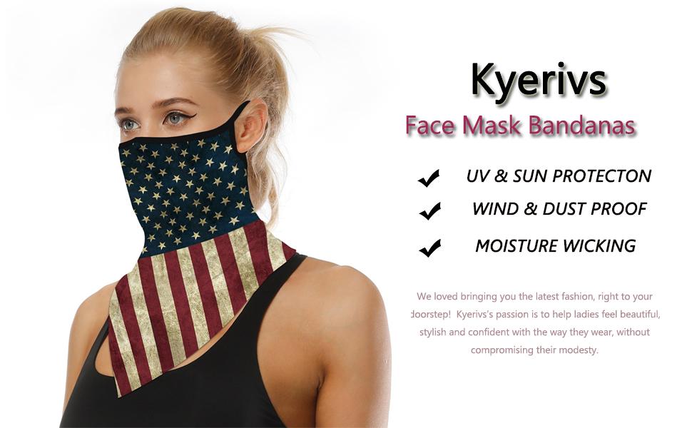 Women men Unisex bandana face mask scarf neck gaiter UV headwear head wrap balaclava sports headband