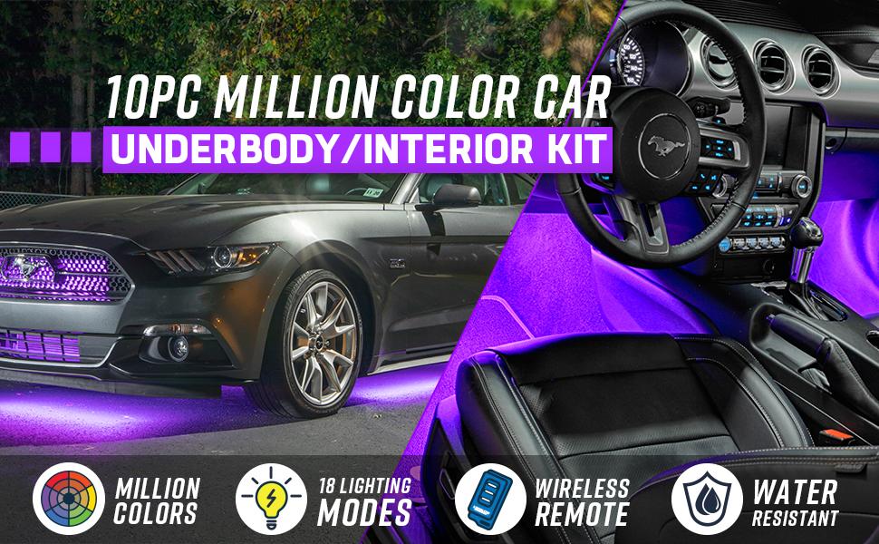 Million Color Car Underbody/Interior Kit