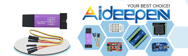 Aideepen ST-Link V2 Programming Unit Mini STM8 STM32 Emulator Downloader  M89 New (Random Color)