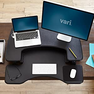 Varidesk ProPlus 36 Two-Tiered Design