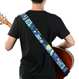van gogh guitar strap for women men girls