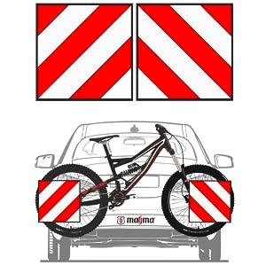 Reflector aanhangerkoppeling accessoires wit kentekenplaat auto fietsafdekking