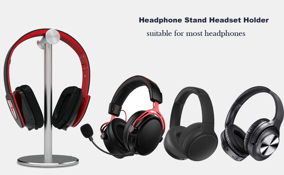 headphone stand headset holder aluminum alloy desk earphone stand anti-slip gaming headset stand