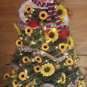 Sunflower christmas tree decor