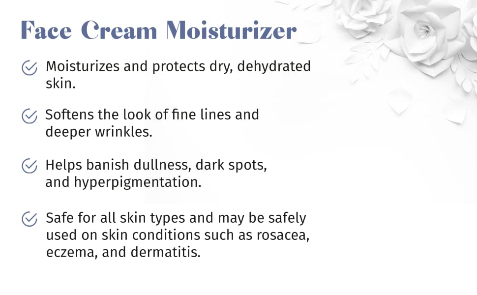 face cream, moisterizes, protects, softens