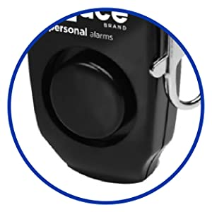 Alarm features a backup whistle built-in to the alarm body.