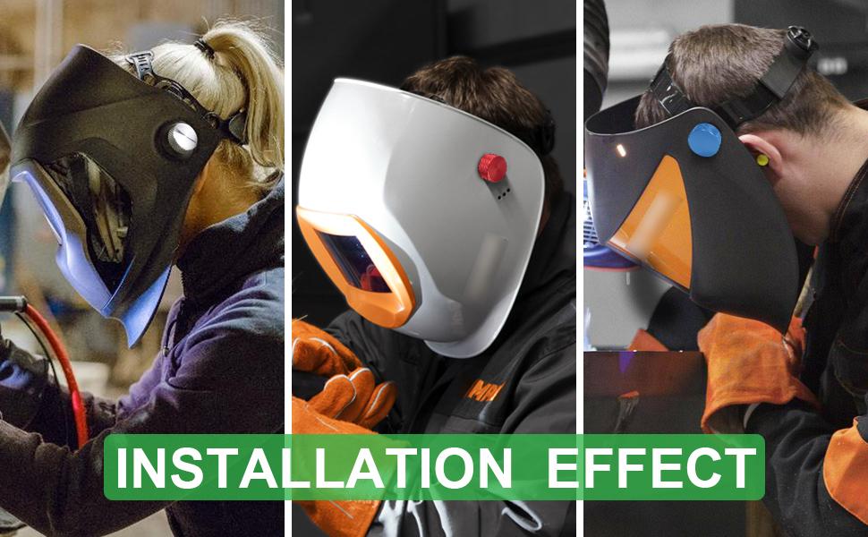 3mirrors Welding Hood (Pipeliner) Helmet Fasteners are made of aluminum