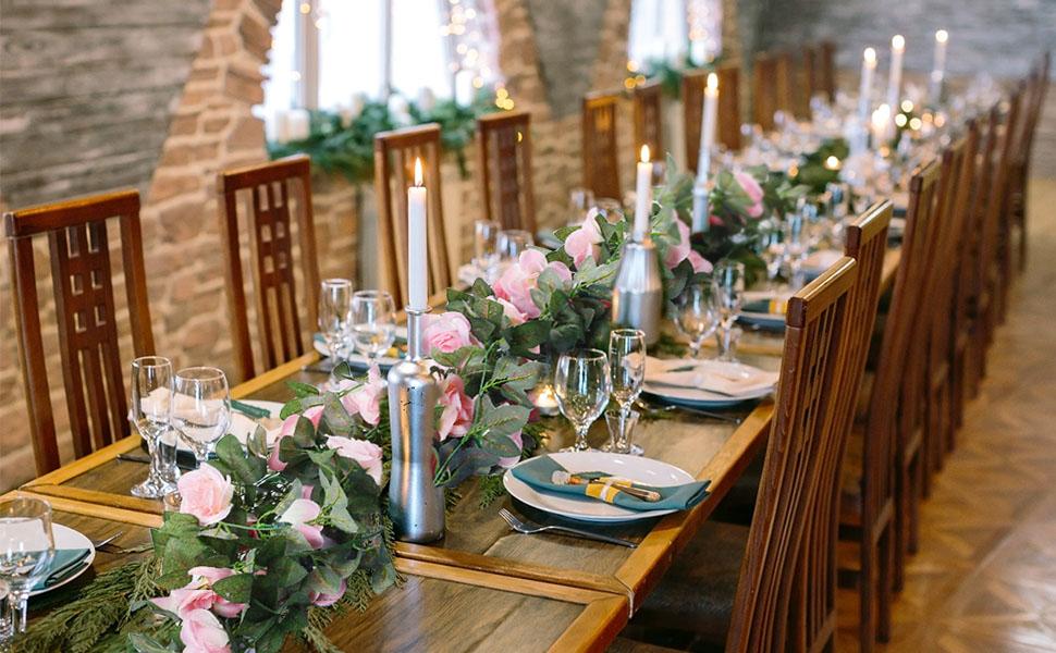 roses vine rose garland faux flower fake flowers