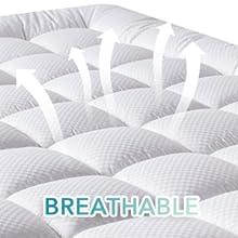 breathable full mattress pad,breathable mattress pad for full,the deep mattress protector full