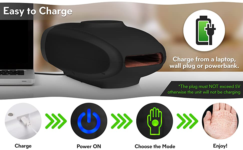 hand massager charging lithium battery