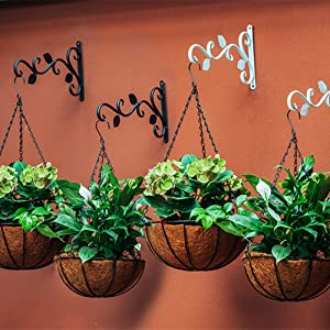 Viti 2 Pezzi di Ferro Gancio della pianta Fix S Type Staffa a Parete Hanging Staffe per Le Piante Lanterna Esterna Giardino Staffe TOPofly Vaso Appeso Staffa