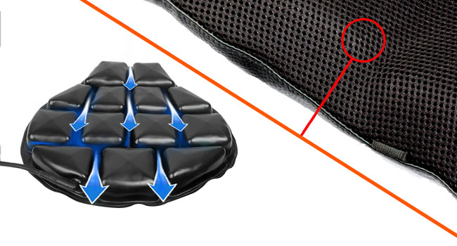 GrandPitstop Motorcycle Cushion Seat Air Comfy Seat Pads Cruiser Touring with Pressure Relief Pad