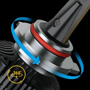 Beam adjustable 9012 led bulbs